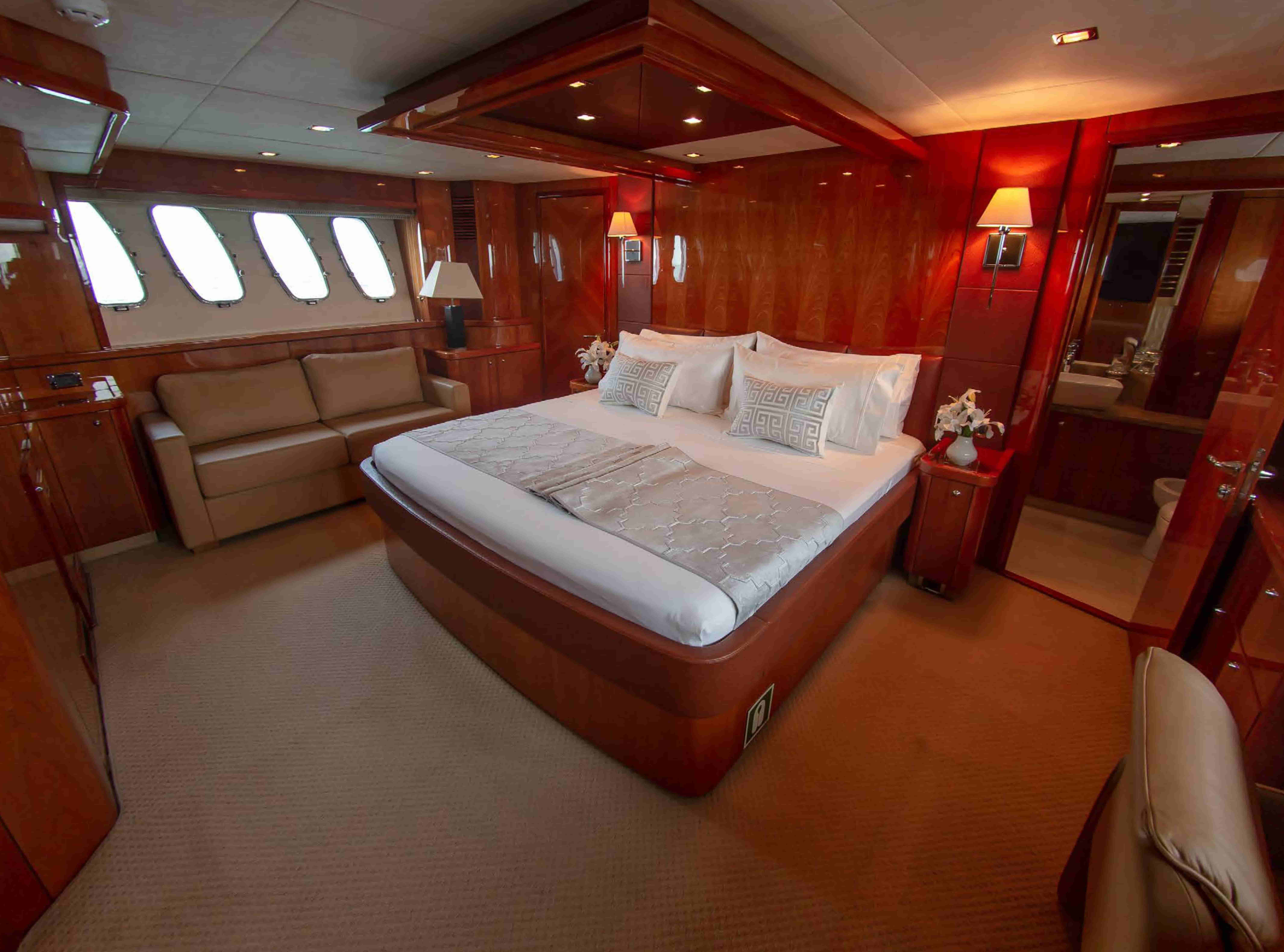 Bed Room on Yacht Notorious