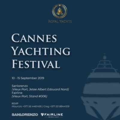 Cannes Yachting Festival 10 Sep – 15 Sep 2019
